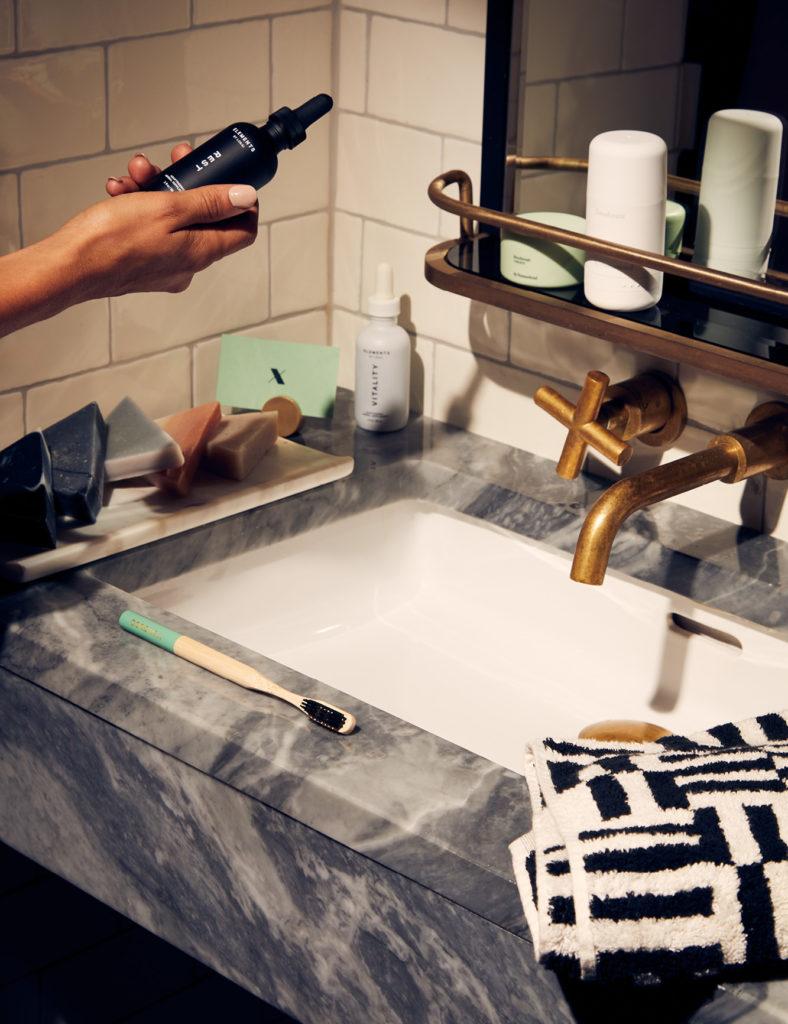 Bathroom vanity still life