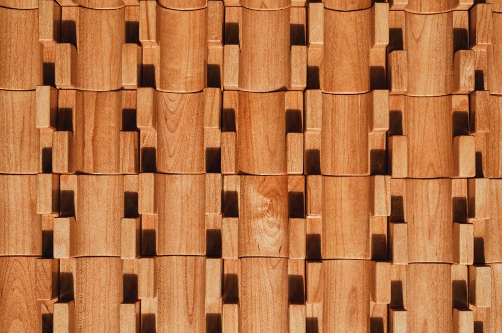 Textured wooden pieces