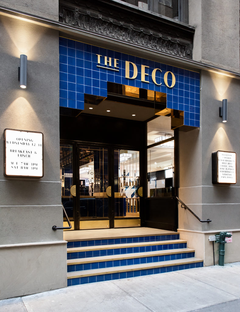 The exterior of The Deco