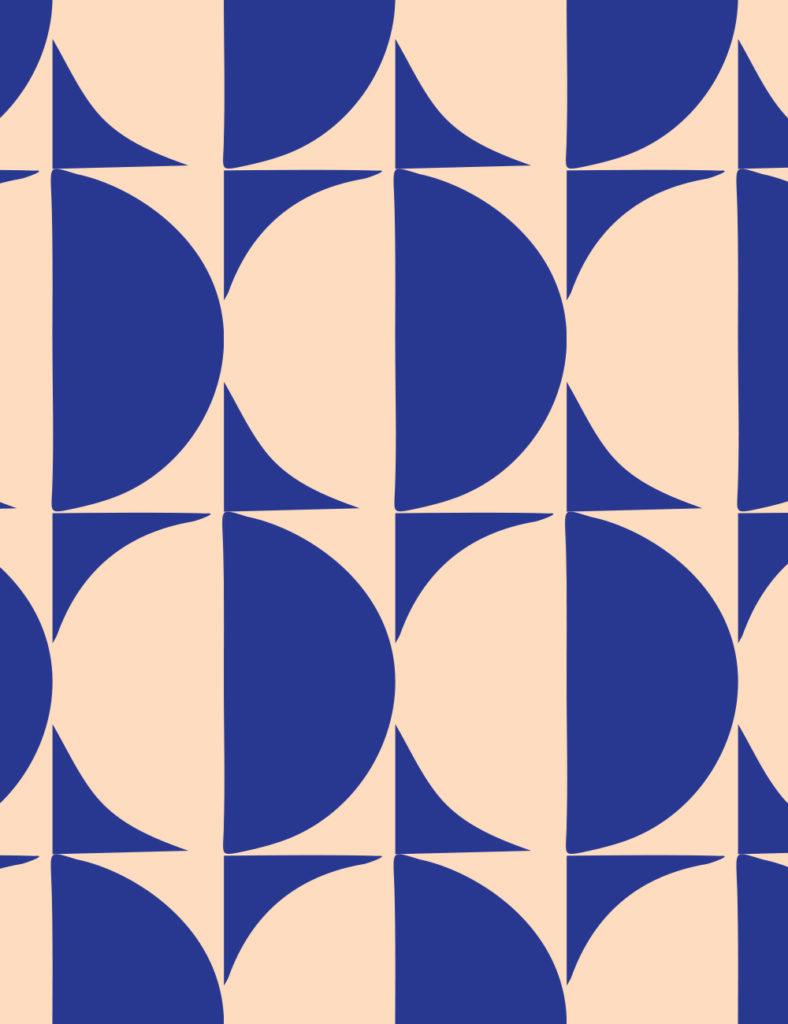Custom circle wallpaper for The Deco