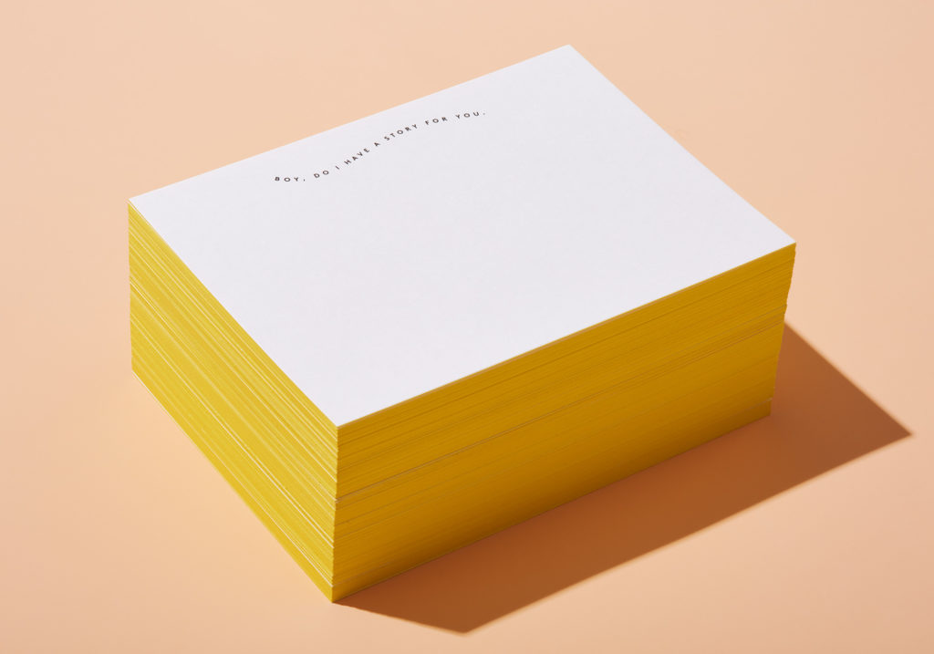 Stack of Becca notecards