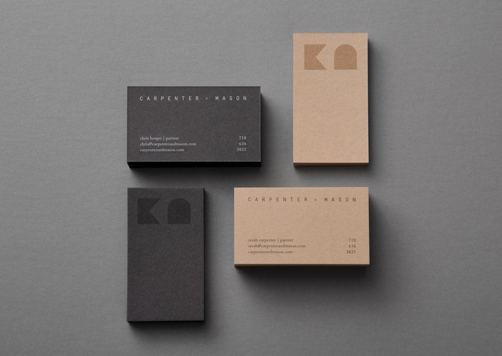 Carpenter and Mason business cards