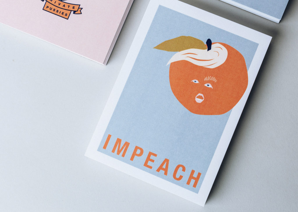 colorful illustrated political postcards